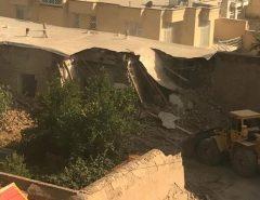 تخریب خانه پرویز مشکاتیان در نیشابور توسط مالک آن!