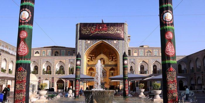 حرم مطهر رضوی در سوگ تاسوعای حسینی